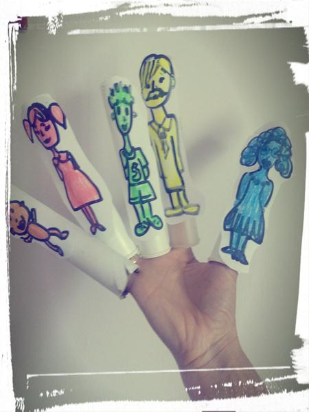 Family fingers puppets!